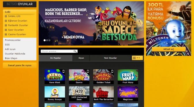 Bets10 Online Oyunlar